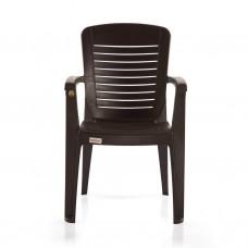 Plastic Ergo Chair (Dark Brown)